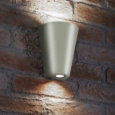 Auraglow 14w Indoor / Outdoor Double Up & Down Wall Light - Silver - Cool White