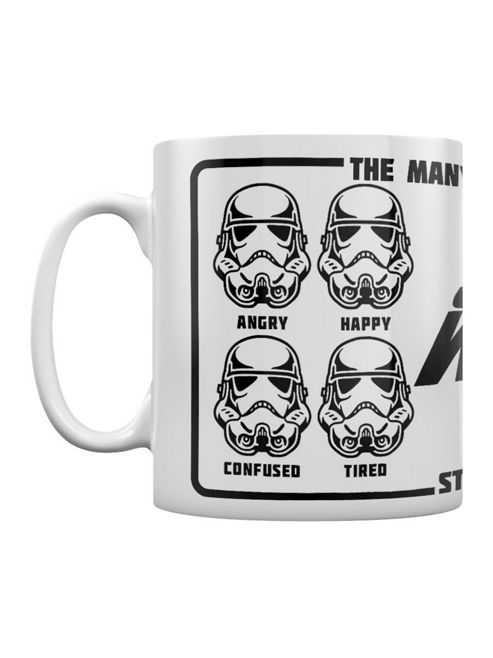 Star Wars Expressions Of A Stormtrooper 10oz Ceramic Mug, White