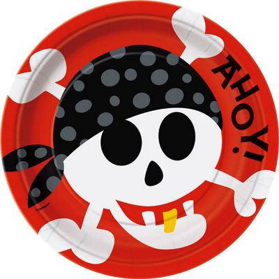 Discontinued - Pirate Party Paper Plates 23cm