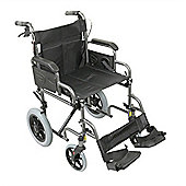 Deluxe Attendant Propelled Steel Wheelchair - Hammered Effect