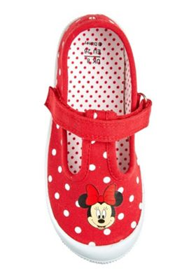 Disney Minnie Mouse T-Bar Shoes Red Child 5