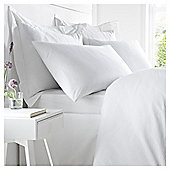 West Park 100% Cotton 200 Thread Count White Double Deep Fitted Sheet