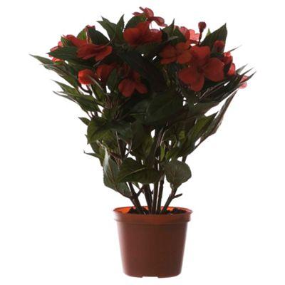 34cm Artificial Impatiens Plant In Pot