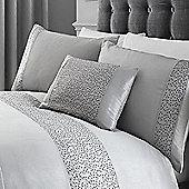 Glitz Boudoir Cushion - Silver