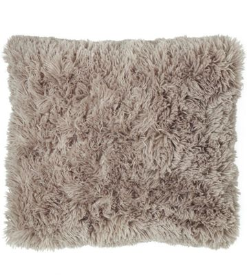Catherine Lansfield Designer Cuddly Cushion Cover - Natural