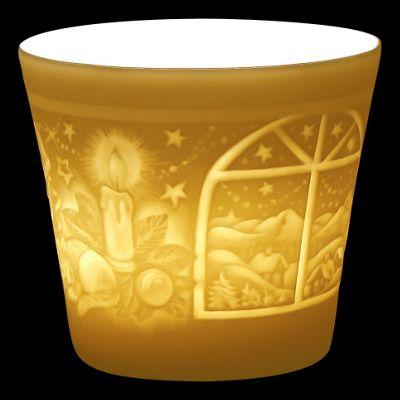Weimar Winter Window Lithophanie Lantern