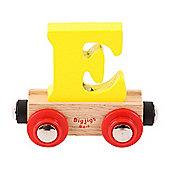 Bigjigs Rail Rail Name Letter E (Yellow)