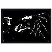 Black Wooden Framed Bob Marley King of Dreads Poster