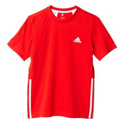 adidas Gear Up Kids Boys Fitness Training Shirt Tee Red - 9-10 Years