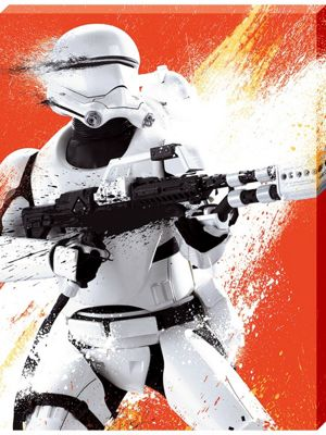 Star Wars Episode VII The Force Awakens Flametrooper Paint Large Canvas Print