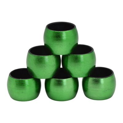 Round Napkin Rings in Green - Pack Of 6