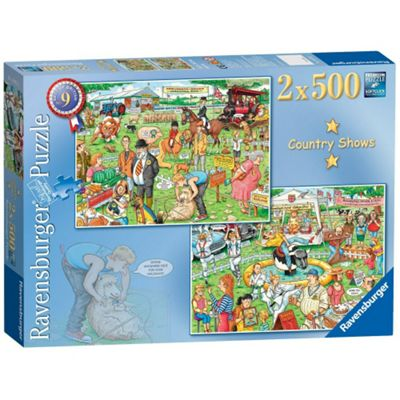 Jigsaw Best of British The Country Show Puzzles 2x 500 Pieces Ravensburger