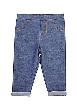 F&F Turn-Up Jeggings - Blue