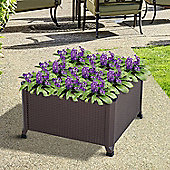 Outsunny Raised Garden Bed, Flower, Plant and Vegetable Planter (60 x 60cm)