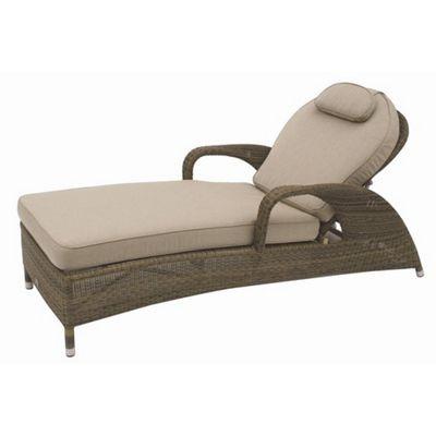 Bridgman Sussex Sunbed with Cushion in Mocha