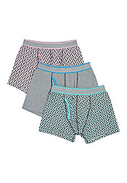 F&F 3 Pack of Checkerboard Print Trunks with As New Technology - Multi