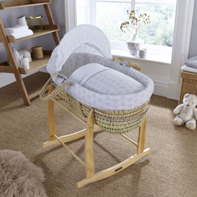 Clair de Lune Palm Moses Basket (Speckles Grey)