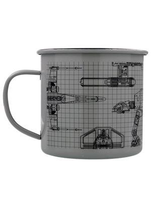 Star Wars 10oz Grey Enamel Mug