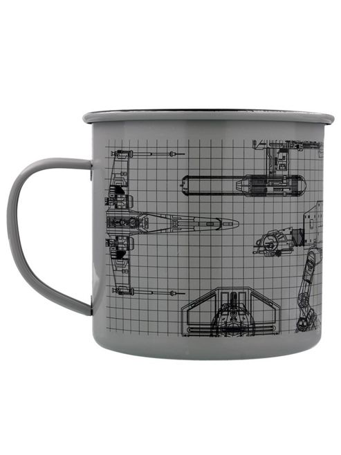 Star Wars 10oz Grey Enamel Mug