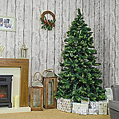 Jingles 7ft Slim Amsterdam Pine Artificial Christmas Tree