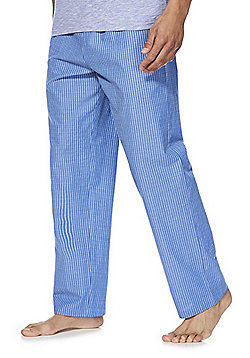 F&F Striped Poplin Lounge Pants - Blue