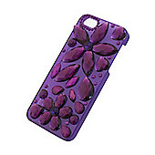 Tortoise™ Look Hard Protective Case, iPhone 5/5S,Large Jem Design, Purple.