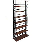 Dakota - Wide 266 Dvd Blu-ray / 378 Cd Media Storage 7 Tier Tower Shelves - Black