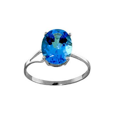 QP Jewellers 2.20ct Blue Topaz Ring in Sterling Silver - Size A