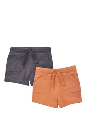 F&F 2 Pack of Jersey Shorts Multi 6-9 months