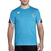 Canterbury England Rugby RFU Cotton Training Tee 2017- Arctic - Blue