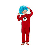 Dr. Seuss Thing 1 and 2 Fancy Dress Costume - Red