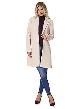 Only Single Breasted Overcoat - Pink