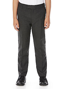 F&F School Boys Slim Fit Trousers - Dark grey