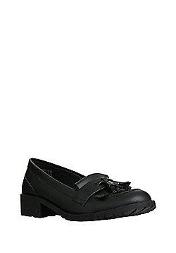 F&F Scuff Resistant Tassel Loafers - Black
