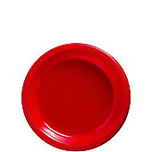 Red Plates - 17cm Plastic Party Plates - 20 Pack