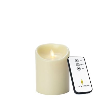 Luminara Candle Wax Virtual Flameless Flickering Candle 8cm x 13cm