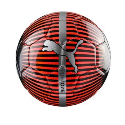 Puma One Chrome Football Soccer Ball Red/Black - Size 5