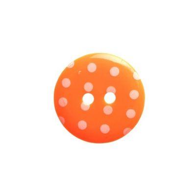 Hemline Orange Polka Dot Buttons 22.5mm 3pk