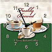Original Signs - Freshly Brewed Classic Italian Coffee Clock