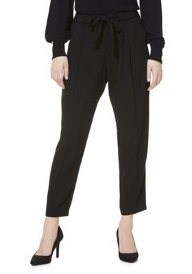 F&F Relaxed Fit Peg Leg Trousers Black 12