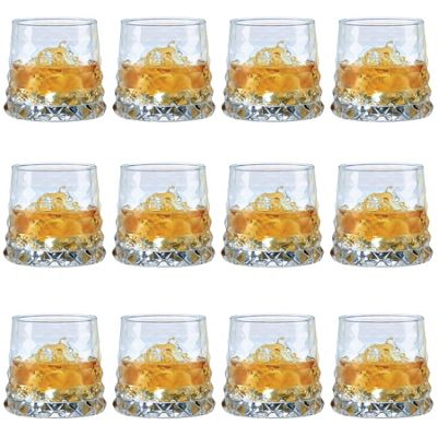 Durobor Gem Vintage Cocktail Glass Drinking Tumbler - 330ml - Pack of 12 Glasses
