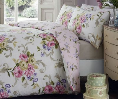 Ella, Vintage Floral Single Bedding - Pink
