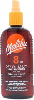 Malibu Sun Lotion SPF8 Dry Oil Low Protection 200ml Spray