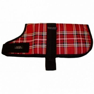 Outhwaites Padded Dog Coat - Red Tartan 25cm