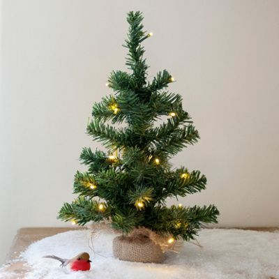 45cm battery operated mini christmas tree with 20 warm white led fairy lights
