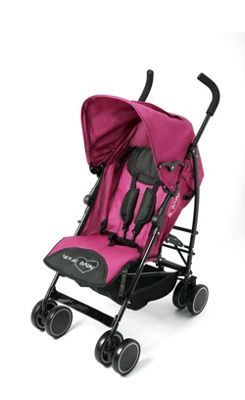 Your Baby - California Baby Buggy/Pushchair Pink & Parasol Black.