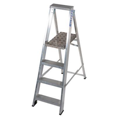 TB Davies Industrial Aluminium 4 Tread Platform Step Ladder