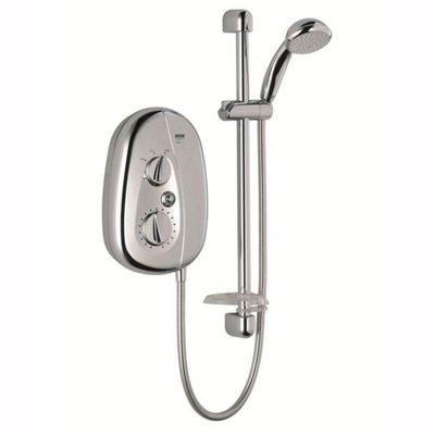 Mira Vie 9.5 kW Electric Shower, 5 Spray Handset, Chrome