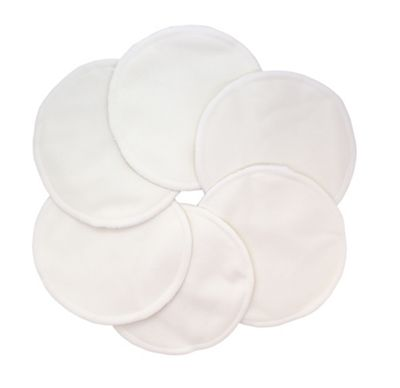 Washable Natural Bamboo Breast Pads (Natural Colour, Pack of 12)