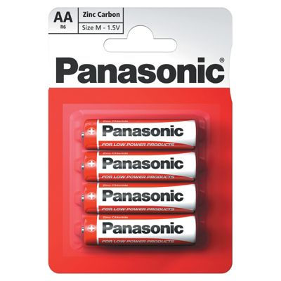 12 x 4 Pcs Pack Panasonic R6RZ-4BP AA Size Zink Carbon Battery (48 Batteries)